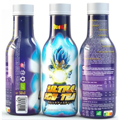 Ultra Ice Tea - Dragon Ball Super - Vegeta - Schwarzer Tee mit Pfirsich Eistee 500ml