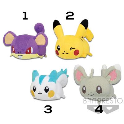 Pokemon - Rattfratz, Pikachu, Pachirisu und Picochilla 9 cm Plüsch