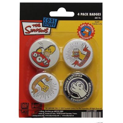 Simpsons  Homer Button Set