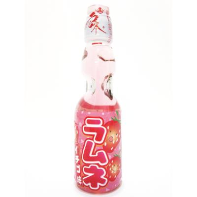 Japanische Limonade Ramune 200ml Flasche Geschmacksrichtung Erdbeere
