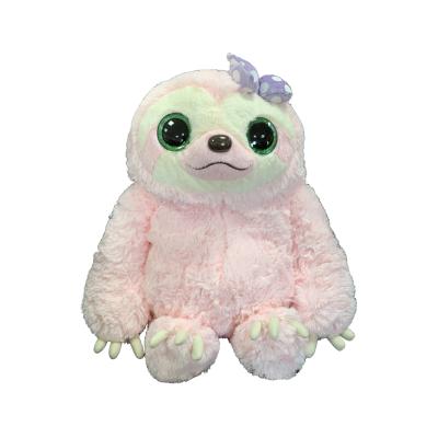 Namakemono Sloth Kirara Eyes Faultier Pink 39cm