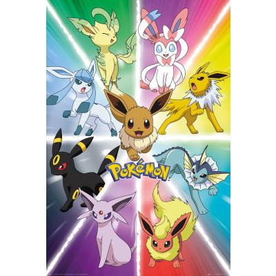 Pokemon Eevee Evolution Poster