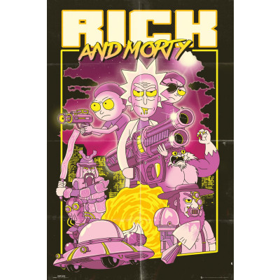 Rick and Morty Action Movie Poster