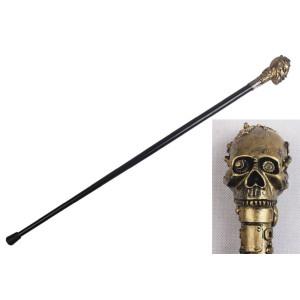Golden Skull 90cm Gehstock