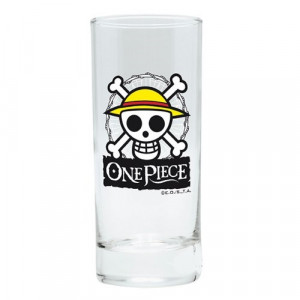 One Piece Ruffy Skull Glas