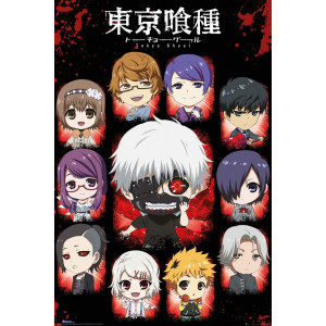 Tokyo Ghoul Chibi Characters Poster