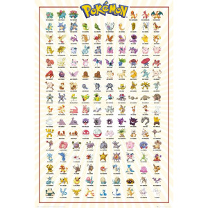 Pokemon Kanto 151 Poster