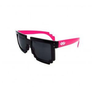 8-Bit schwarz/rot Pixel Sonnenbrille