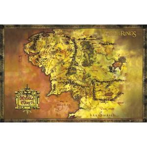 Der Herr der Ringe Map Poster