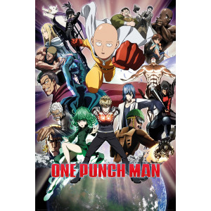 One Punch Man Group Poster