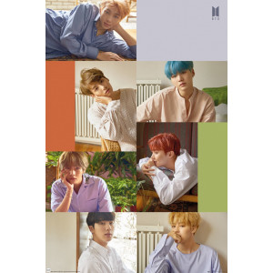 BTS Group Collage Poster