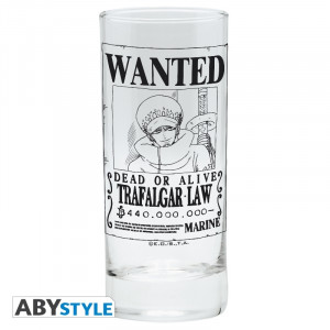 One Piece Trafalgar Law Wanted Glas