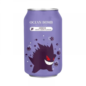 Ocean Bomb Gengar Pokemon White Grape 330ml Dose