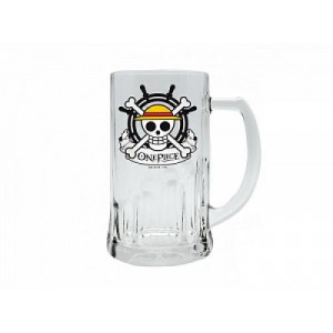 One Piece Ruffy Skull Bierglas