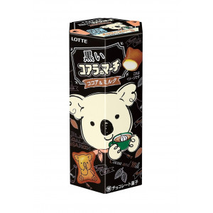 Lotte Koala's March Black Cocoa & Milk Chocolate Cream Biscuits 48gr