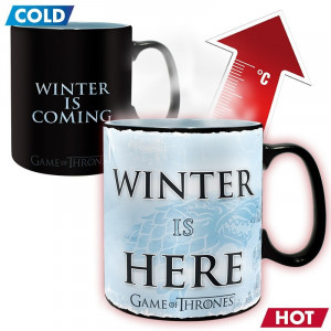 Game of Thrones Magic Mug Winter Is Here 460ml Tasse