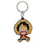 One Piece Ruffy Gummi Schlüsselanhänger